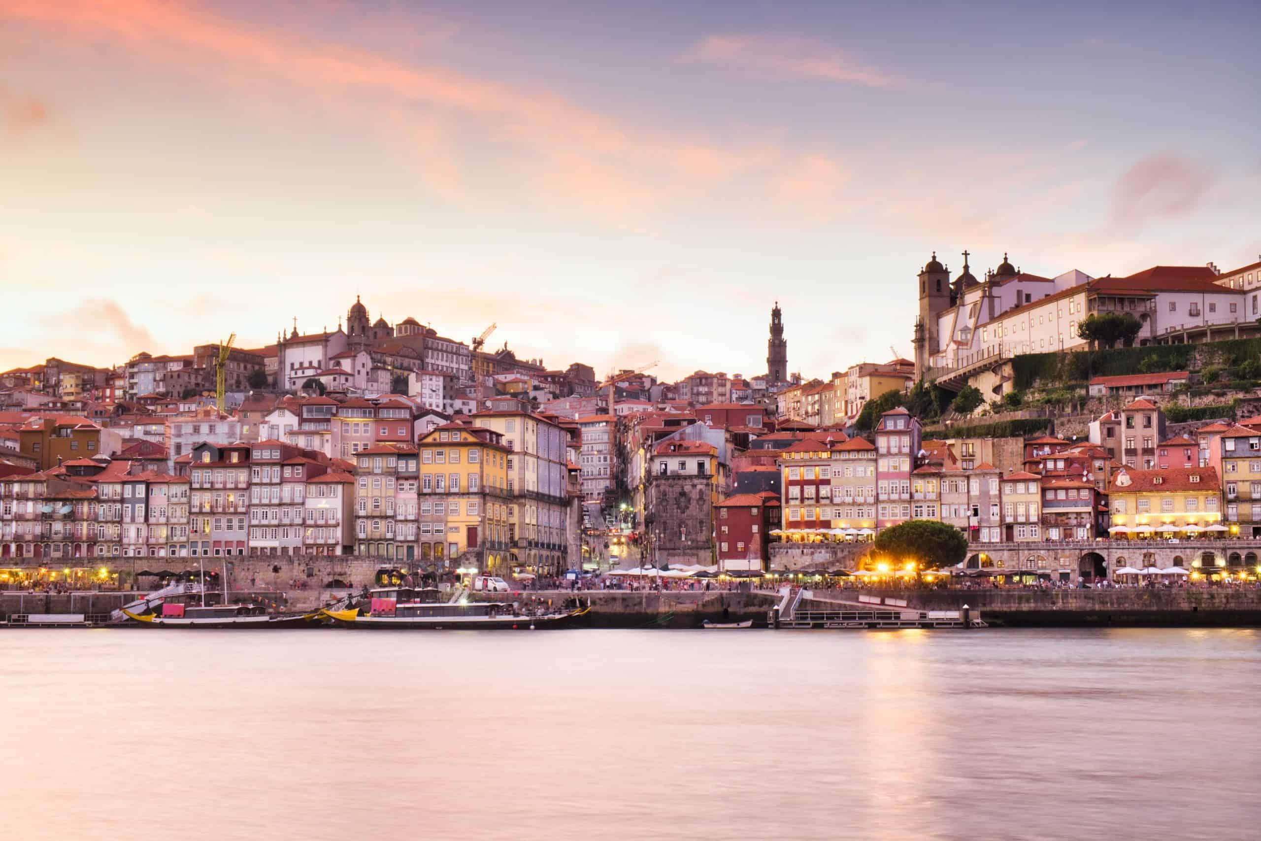 View Of Porto Oporto City And Douro River Portugal